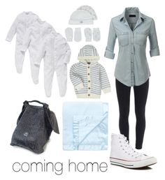 """bringing baby home"" by haley-abernethy on Polyvore featuring Paige Denim, LE3NO, Converse, John Lewis and George"