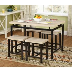 Great Simple Living Delano Two Tone 5 Piece Dining Set By Simple Living