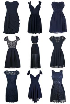 Lily Boutique ~ Gorgeous navy blue bridesmaid dresses at www.lilyboutique.com! FREE shipping over $75!