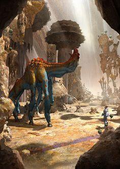 Inhabitant II by Simon Webber on ArtStation. Alien Concept Art, Creature Concept Art, Creature Design, Alien Creatures, Magical Creatures, Fantasy Creatures, Arte Sci Fi, Sci Fi Art, Fantasy World