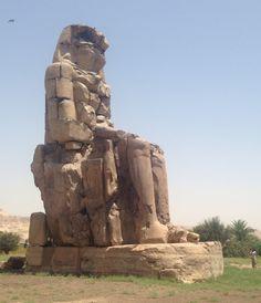 Colossi of Memnon, Luxor, #Egypt, #AncientCivilizations trip, May 2014