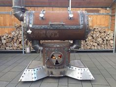Klicke auf dieses Bild, um es in vollständiger Größe anzuzeigen. Bbq Pit Smoker, Diy Smoker, Fire Pit Grill, Homemade Smoker, Custom Bbq Smokers, Custom Bbq Pits, Gas Bottle Bbq, Barrel Bbq, Steel Barrel