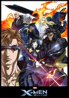 x men anime style