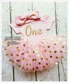 Birthday Girl Outfit,1st birthday pink and gold princess set, one gold glitter top birthday gold polka tutu, pink and gold smash cake outfit by PoshLilyCouture on Etsy https://www.etsy.com/listing/455853448/birthday-girl-outfit1st-birthday-pink