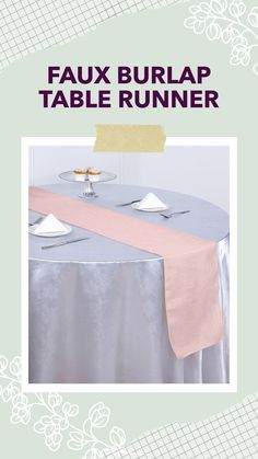 Crafted from high-quality polyester fabric with a textured woven design, this jute-like table runner will bring charm to your celebration. Pair these stylish linens with your tablecloths and napkins to add an exquisite and charming touch to your party table setting. Burlap Table Runners, Wedding Linens, Dining Decor, Rustic Outdoor, Reception Table, Tablecloths, Event Decor, Jute, Celebration