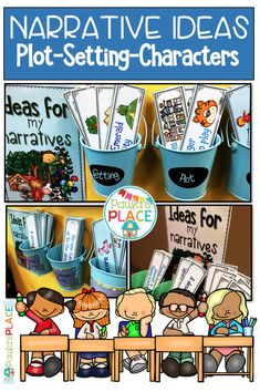 "Some children at writing time get stuck for ideas. These Narrative Writing Prompt tags will help motivate your writers and you will never hear – ""I don't know what to write about."" Copy these in color and laminate before adding to your display board. There is a save your ink version. Writing Posters, Writing Genres, Writing Strategies, Writing Resources, Teaching Resources, Primary Classroom, Classroom Activities, Classroom Window, Primary Teaching"
