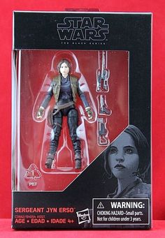 "Sergeant Jyn Erso Star Wars Rogue One Black Series Hasbro Exclusive 3.75"" Figure #Hasbro"