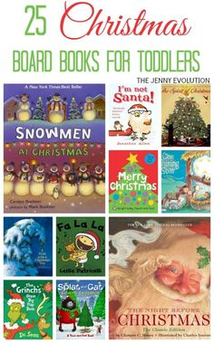 25 Christmas Board Books for Toddlers | The Jenny Evolution