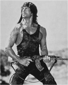 Sylvester Stallone as John Rambo (Rambo, First Blood) Rambo 2, John Rambo, Charles Bronson, Hero Movie, Movie Tv, Pulp Fiction, Sylvester Stallone Rambo, Stallone Rocky, Silvester Stallone