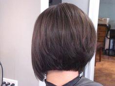 stacked bob haircut back view image