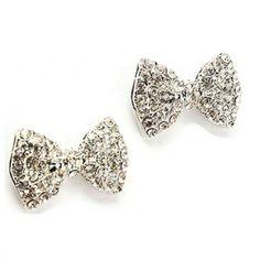 Stud earrings BOWS