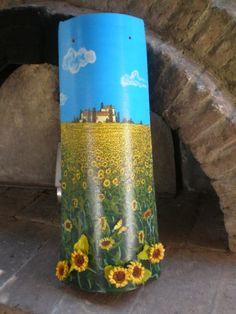 tegola 3d paesaggio con girasoli