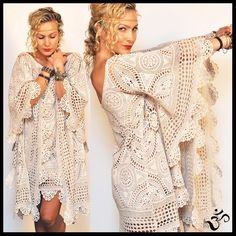 vintage 60s crochet mini dress