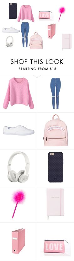 """Untitled #303"" by moonlightprincess93 on Polyvore featuring Topshop, Beats by Dr. Dre, Tory Burch, Kate Spade and Alexandra Ferguson"