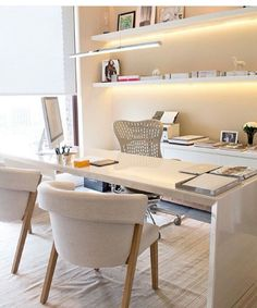 Shades of White Office Interior