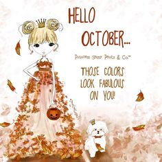 PSP wore her leaf dress to welcome beautiful #october.