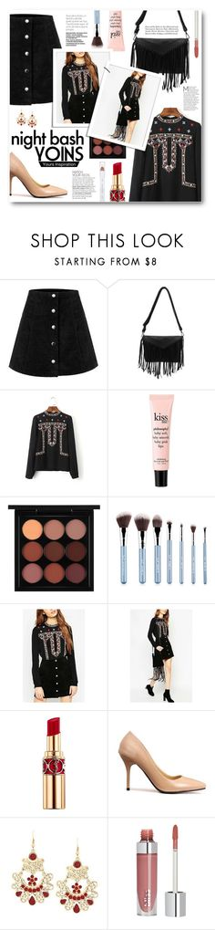 """""""Night Bash with Yoins"""" by tasnime-ben ❤ liked on Polyvore featuring philosophy, MAC Cosmetics, Yves Saint Laurent, Louis Vuitton, shu uemura and yoins"""
