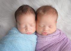 -nascidos gêmeos do menino + menina!  18 dias de idade {fotografia bebê…