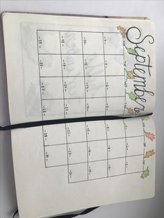Calendar Календарь plan monthly разворот месяц сентябрь September