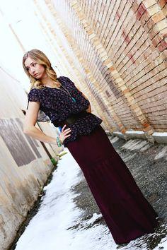 Tiered Maxi Skirt Tutorial