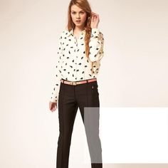 Womens-Elephant-Print-Long-Sleeve-Lapel-Button-Down-Shirts-Slim-Blouse-Tops