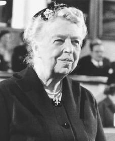 Eleanor Roosevelt:  1884–1962   As a champion of human rights, she strove to further women's causes as well as the causes of black people, poor people, and the unemployed.