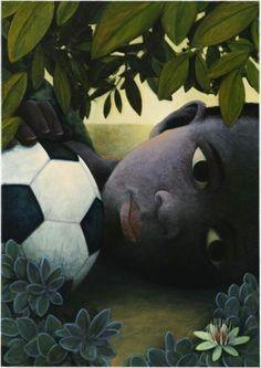 """☀ Giovanni Dalessi ☀  """"Ogni volta che un bambino prende a calci qualcosa per la strada, lì ricomincia la storia del calcio.""""  (Jorge Luis) - da Paradigma d'Arte -"""