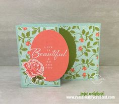 The new petal Garden suite of coordinated products includes beautiful 6×6 designer paper, coordinating ribbons, a beautiful stamp set and much more, All available individually to meet your needs. Check out two cards I created with the coordinating Memories & More Petal Garden set as well as three fun cards with perfectly coordinating stamps.  …
