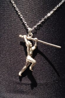 Pole Vault Necklace and Charm
