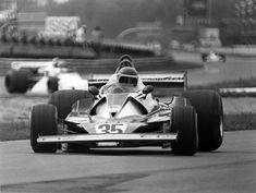 Monza 1976. Nikki Lauda's first race back for Ferrari, in a Ferrari 312T2, after his horrifying crash.