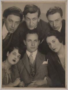 André Breton, Simone Kahn, Louis Aragon, Max Morise at the marriage of Roland Tual and Colette Jeramec, photo by Man Ray. Mind. Blown.