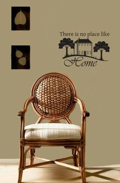 Vinyl wall decal sticker vinyl wall art saying decor THERE Is No Place by wallstickerdecal, $17.99
