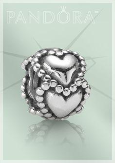 Pandora Jewelry Charm 790448 Herzen Element Silber
