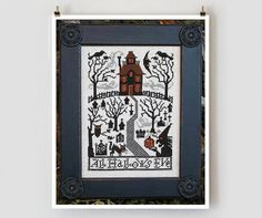 counted cross stitch pattern  All Hallows Eve by thecottageneedle, $9.00