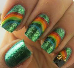 12 best rainbow nails images on pinterest rainbow nails rainbows st pattys art decorcheesest pattysholiday ideasparty ideasrainbow nailscraft solutioingenieria Gallery