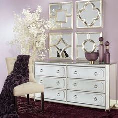 Home Decoration Living Room Info: 2686513793 Elegant Home Decor, Elegant Homes, Diy Home Decor, Mirrored Furniture, Home Furniture, Furniture Movers, Modern Furniture, Royal Furniture, Bedroom Furniture