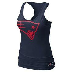 Official New England Patriots ProShop - Ladies Nike Tri Big Logo Tank-Navy