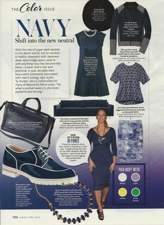 Say It with Color: Navy #Instyle