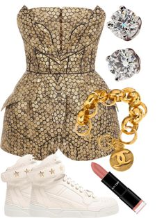 """""""Even Though She Standing Out, She Looks Like She Belongs Here."""" by neekcole ❤ liked on Polyvore"""