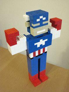 Captain America LEGO Sculpture | Qubicle Constructor