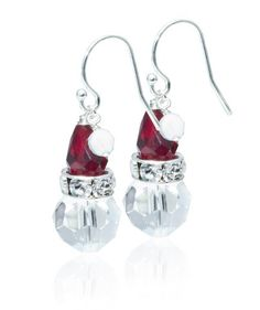 Santa Earring. These come in a kit form, but we can just make them from the photo.