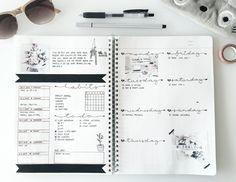This week's spread // It's the first week of my last semester  good luck to all of you who've just started too  My current layout includes an event overview, a habit tracker, a task-list, daily logs and a small space for notes considering next...