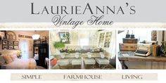 LaurieAnna's Vintage Home- love the English farmhouse decor