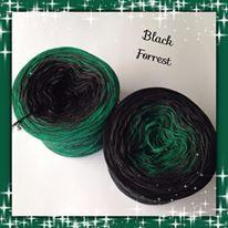 Black Forrest, Farbverlaufsgarn aus 50% Baumwolle/50% Polyacryl, angenehm weich