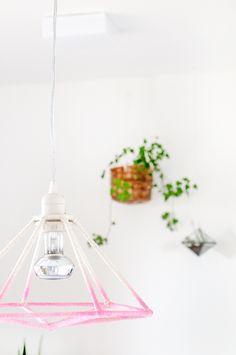 DIY Luminária geométrica ombré | A Parede Indecisa #fave