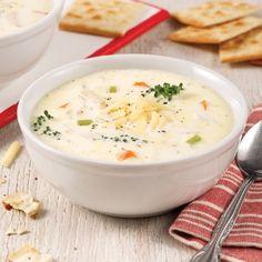 Crème de brocoli, poulet et cheddar - Soupers de semaine - Recettes 5-15 - Recettes express 5/15 - Pratico Pratique
