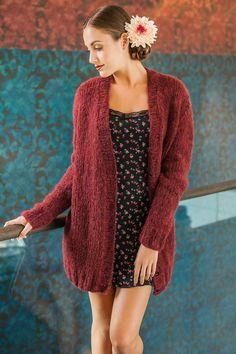 Lana Grossa CARDIGAN GLATT RECHTS Garzato Fleece - FILATI Handstrick No. 58 (Home) - Modell 32 | FILATI.cc WebShop