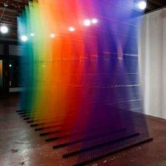 Gabriel Dawe #rainbow #artinstallation #sculpture #art #artist #artwork #sculptor #sculptured #gabrieldawe #arte #contemporarysculpture #modernart #modernsculpture #contemporaryart #rainbowsculpture regram @streetartnews