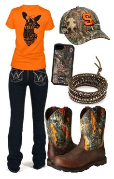 """""""Untitled #131"""" by dirtroadprincess ❤ liked on Polyvore featuring Wrangler, Ariat, Zephyr, OtterBox and Chan Luu"""