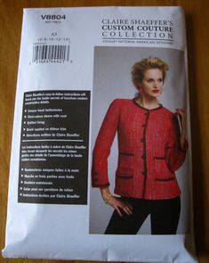 If you are sewing Claire Shaeffer's Vogue Pattern V8804 , for a Chanel-like cardigan jacket, and wish you could have Shaeffer herself sho...
